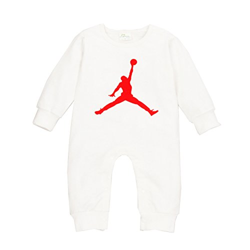 YISET Baby Clothing Long Sleeve Jordan Baby Rompers Jump Suit (10-12 Months)