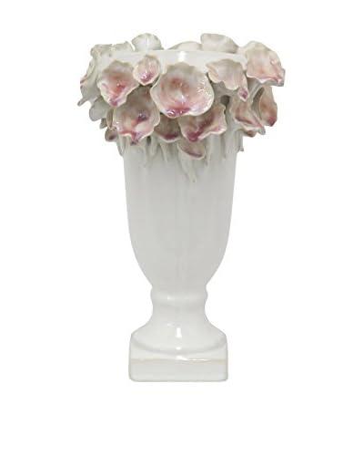 Three Hands Ceramic Vase, White
