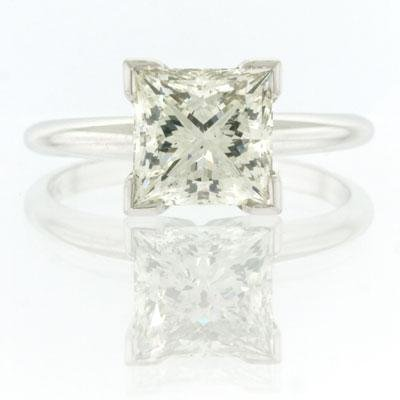 2.23ct Princess Cut Diamond Engagement Anniversary