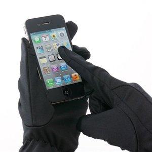 サンワダイレクト iPhone スマートフォン手袋 Lサイズ メンズ ブラック 200-PEN001BK