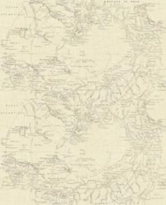 Fresco Map Wallpaper - Cream from New A-Brend
