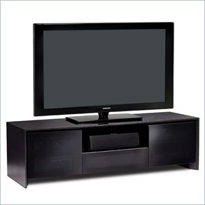 Cheap BDI Casata Flat Panel or Rear Projection TV Stand in Black Stained Oak (8629-2BO)