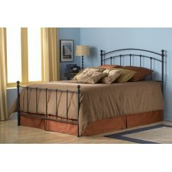 California King Fashion Bed Group Sanford Metal Poster Bed with Frame in Black Matte Finish
