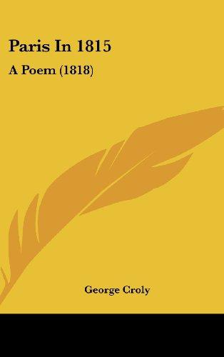 Paris in 1815: A Poem (1818)