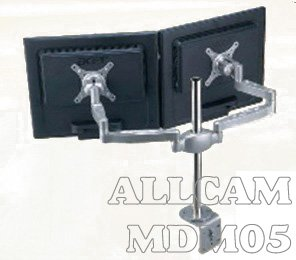 MDM05 Multi Screen Desk Mount Bracket/ Monitor Arm Stand: Two LCD Monitors/TVs on one table