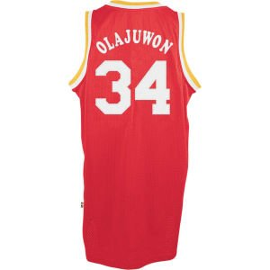 Houston Rockets #34 Hakeem Olajuwon NBA Soul Swingman Jersey, Red by adidas