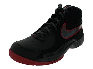 Nike Men's THE OVERPLAY VII NBK BASKETBALL SHOES (10.5 D(M) US, BLACK/ANTHRACITE/GYM RED)