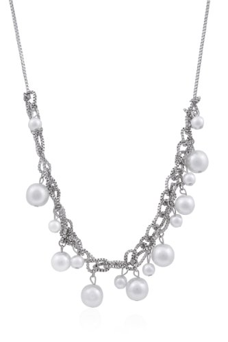 Trendy Baubles Pearl Necklace For Women (white)