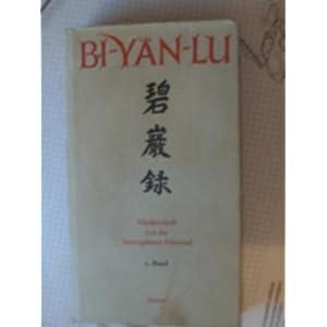 eBook Cover für  Bi Y xE4 n Lu Meister Y xFC an wu 39 s Niederschrift von der smaragdenen Felswand Bd 1