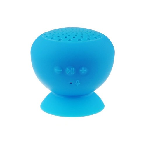 Afunta Bluetooth Waterproof Cordless Mini Mushroom Wireless Speaker With Suction Cup Mic Compatible With Apple Iphone 4/4S, Iphone5/5S, Ipad Ipod, Sumsang Galaxy S3 S4 S5, Note2 Note3, Tablet Pc And Any Bluetooth Devices And All Android Devices Support Bl