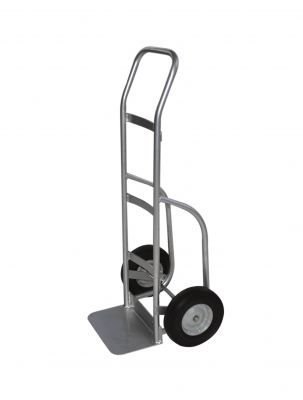 Milwaukee Hand Trucks 49264 Flow Back Welded Aluminum Truck With 10-Inch Pneumatic Tires front-452625