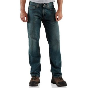 Carhartt Relaxed Straight Jeans Weathered Blue 32R,34R,36R,40R Mens