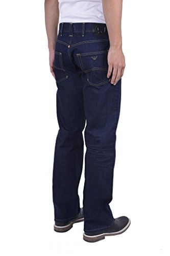 Armani Jeans Men's Dark Blue Regular Fit Low Waist Jeans