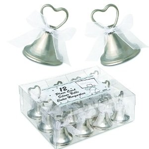 Silver Bell Place Card Holders (12 count)