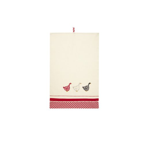Ulster Weavers Gingham Geese Applique Styled Cotton Tea Towel