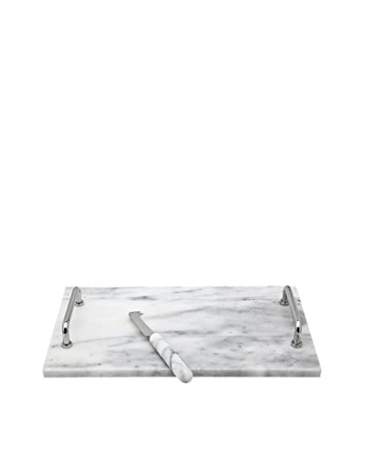 Godinger White Marble Cheese Board & Knife