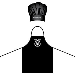 NFL Oakland Raiders Chef Hat and Apron Set