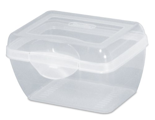Images for Sterilite 17718612 Flip Top Storage Box, Clear, 12-Pack, Micro