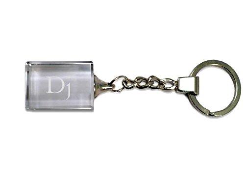 Eingravierter-Glas-Schlsselanhnger-mit-Aufschrift-Dj-VornameZunameSpitzname