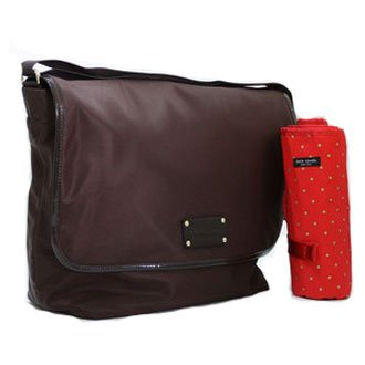 kate spade nylon baby diaper messenger bag tote chocolate brown diaper bags babies. Black Bedroom Furniture Sets. Home Design Ideas