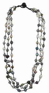 Three Strand Freshwater Pearl Necklace. Strands Measure 18