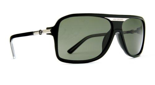 Von Zipper Stache Sunglasses - Multiple Colors Avail - We are the VonZipper Authorized dealer., BKG Black Gloss / Grey Lens