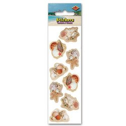 Seashell Stickers   (2 Shs/Pkg)