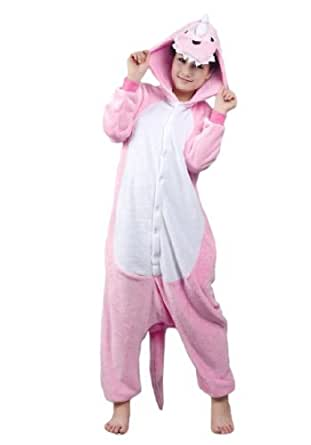 OFFICIAL CLUBCORSETS ANIMAL PYJAMA ONESIE- FLUFFY FUN! IDEAL UNISEX XMAS PRESSIE ALL SIZES S, M, L, XL (M 160-170 CM ( HEIGHT 5'2~5'6 ), PINK DINOSAUR)