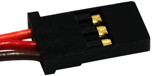 Graupner Servo Lead with Male Connector, 22 AWG/270mm
