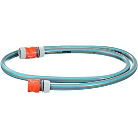 Gardena 708 Connector Lead Hose With Quick Connect For Hose Reel Carts