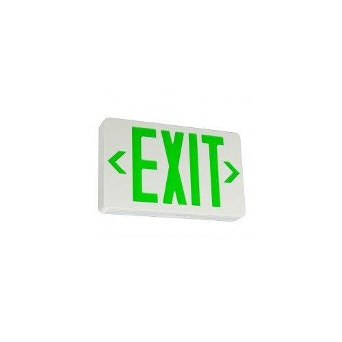 Nicor Lighting 18200GREEN Exit Signs
