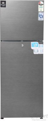 Haier HRF-2672BS-H Frost-free Double-door Refrigerator (221 Ltrs, 2 Star Rating, Brushline Silver)