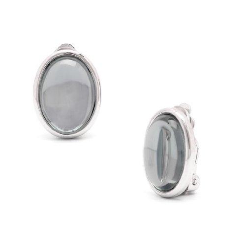 Rodney Holman Cabouchon Clip On Earrings - Grey