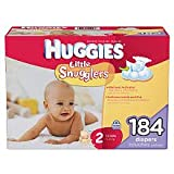 Huggies Little Snugglers, Size 2 (12-18 lbs.), 184 ct.