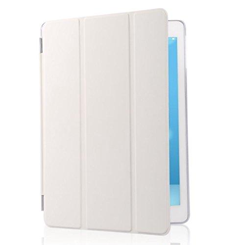Neue Smart Schutzhülle für iPad (2./3./4. Generation)-PREMIUM QUALITÄT PU Leder Ultra Thin Slim Trifold Pro Look Stil niedliche mit Multi Angel Ständer und strahlend Hartschale, vorne/hinten Schutz und eingebautem Magnet für Sleep/Wake Funktion magnetisch Smart Cover geeignet nur für iPad 2./3./4. Generation Modell:-(Modell: A1395/A1416/A1430/A1403/1458/1459/1460)-@ SK Micro ¨-Select Farbe -