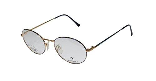 [Rodenstock R2940 Mens/Womens Ophthalmic Slim Style Designer Full-rim Eyeglasses/Eye Glasses (52-19-135, Matte Gold / Blue] (Cheap Indiana Jones Costumes)