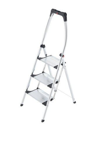 Hailo LivingStep Comfort Plus 4303-301 Folding Stepladder with 3 Steps