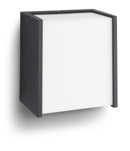 Philips 173023016 Macaw Lampada da Parete a LED per Esterni, Nero