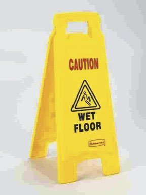 Rubbermaid #6112-77 Caution Wet Floor Sign