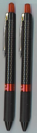 Stylo rechargeable, moyenne, encre rouge-Lot de 2