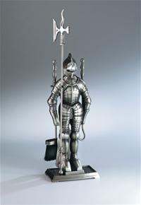 HaasSohn-Kaminbesteck-4-tlg-Ritter-silberantik-Hhe-ca-71-cm-Material-Stahl-Farbe-silber-antik-Bestehend-aus-Stnder-Besen-Schaufel-Schrhaken