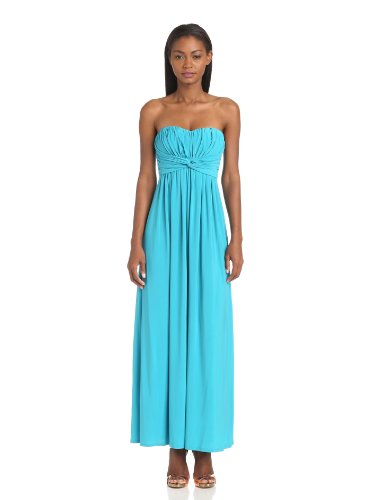 Jessica Simpson Women's Strapless Solid Maxi Dress, Blue, 8