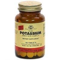 Solgar de potassium des acides aminés comprimés