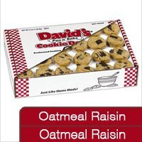Davids Cookies 120291 Pre-Formed Frozen Cookie Dough Oat Raisin/Oat Raisin