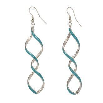 alexa-starr-6089-ep-aqua-silvertone-or-goldtone-enamel-linear-twisted-earrings-aqua