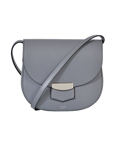celine-womens-176643acx09tm-grey-leather-shoulder-bag