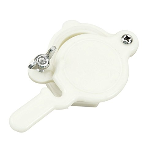 TOOGOO(R) Nylon Honey Gate Valve Honey Extractor Honey Tap Beekeeping Bottling Tool 1PC (White)