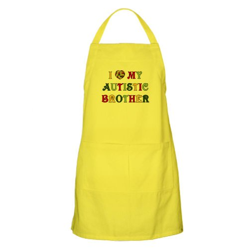 Cafepress Love Autistic Brother BBQ Apron - Standard