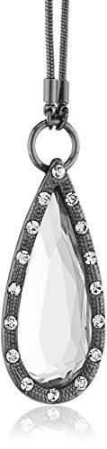 Pilgrim Damen-Halskette delicate night hematite plated kristall 45 cm 12114-3021