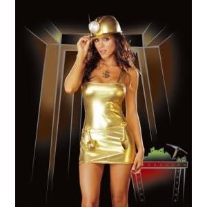 Gold Digger W Hat Medium Costume